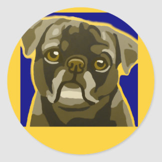 Bull Dog Pop Art Add Pets Name Customize Stickers