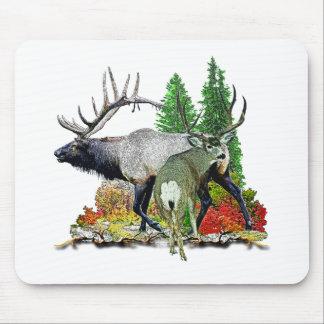 Bull elk  buck deer mouse pad