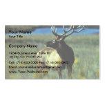 Bull elk business card template