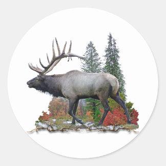 Bull Elk Classic Round Sticker