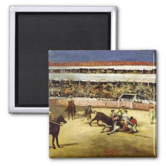 Bull Fight, 1865 Square Magnet