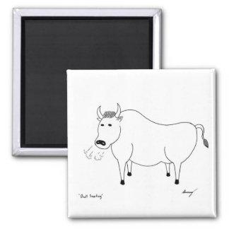 Bull Folk Art Magnet