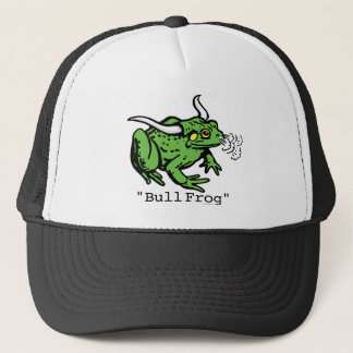 Bull Frog Bullfrog by Mudge Studios Trucker Hat