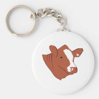 Bull Head Basic Round Button Key Ring