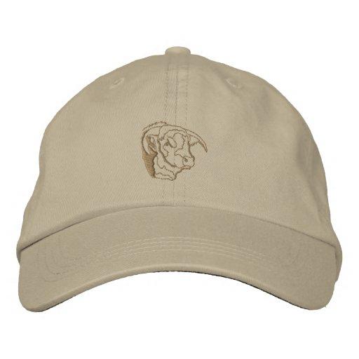 Bull Head Outline Embroidered Baseball Cap