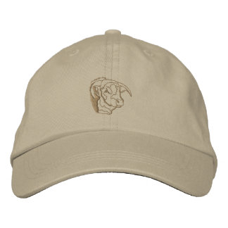 Bull Head Outline Embroidered Hats