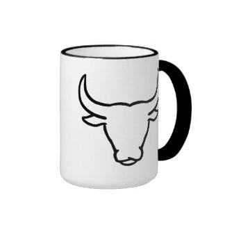 Bull horns ringer mug