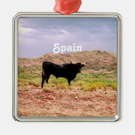 Bull in Spain Ornaments