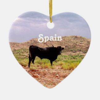 Bull in Spain Christmas Ornaments