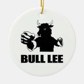 Bull Lee Christmas Ornament