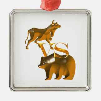Bull Market Vs Bear Market Christmas Ornament