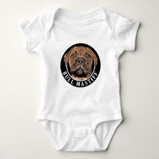 Bull Mastiff 002 Baby Bodysuit
