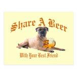 Bull Mastiff Shares A Beer