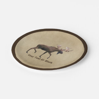 Bull Moose 7 Inch Paper Plate