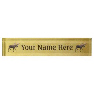 Bull Moose Desk Nameplate