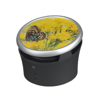Bull Moose jousting in field with Cottonwood Trees Bluetooth Speaker