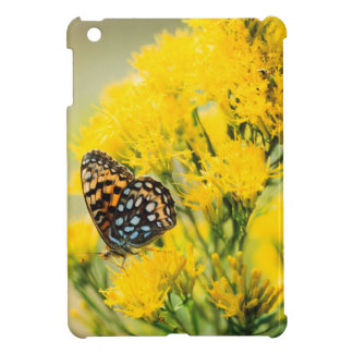 Bull Moose jousting in field with Cottonwood Trees Case For The iPad Mini