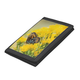 Bull Moose jousting in field with Cottonwood Trees Trifold Wallet