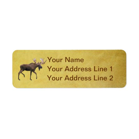 Bull Moose Return Address Label