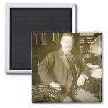 Bull Moose Teddy Roosevelt Vintage Square Magnet