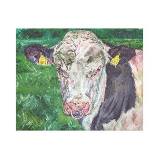 Bull No 01. 1014 Irish Friesian Cow Canvas Print