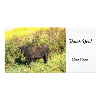 Bull Personalised Photo Card