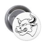 Bull Pinback Button