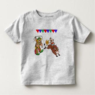 Bull Rider And Rodeo Clown Cartoon Kid Shirt
