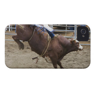 Bull rider at rodeo iPhone 4 cases