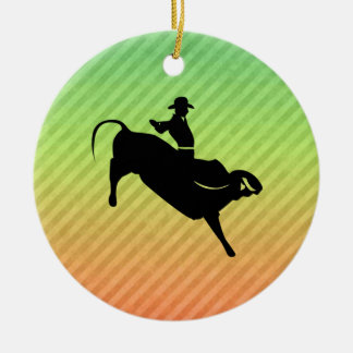 Bull Rider Christmas Ornament