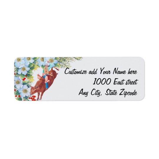 Bull Rider ~ I Love Rodeo Return Address Label