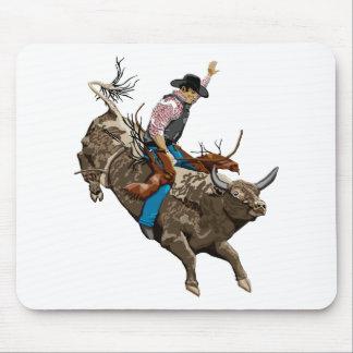 Bull rider mouse mat