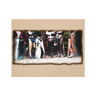 Bull Riders Chaps Canvas Gallery Wrap Canvas Print