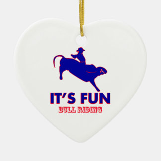 bull riding Designs Christmas Ornament