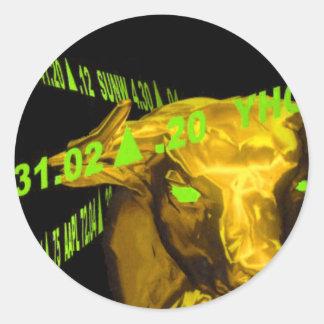 Bull Round Sticker