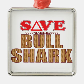Bull Shark Save Christmas Ornament
