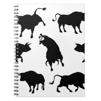 Bull Silhouettes Notebook