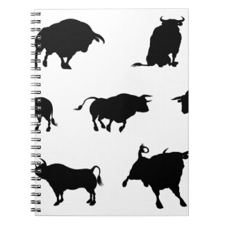 Bull Silhouettes Notebooks