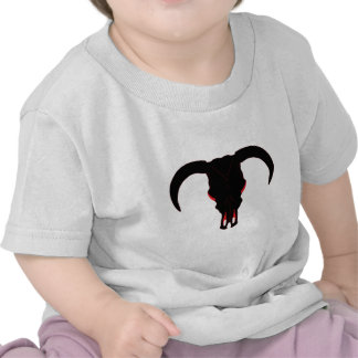 Bull Skull Black and Red Tshirt