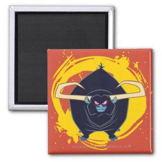 Bull Smiling Square Magnet
