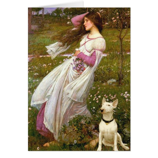 Bull Terrier 1 - Windflowers Card