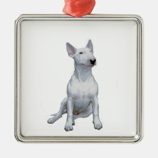Bull Terrier (A) - White Christmas Ornament