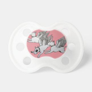 Bull Terrier Baby Pacifier / Dummy