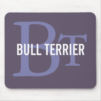 Bull Terrier Breed Monogram Mouse Pad
