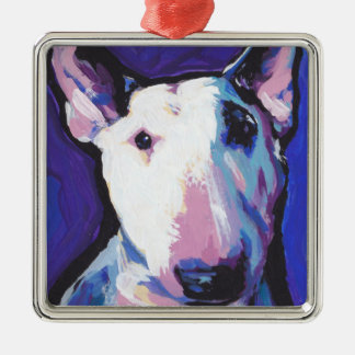 Bull Terrier Bright Colorful Pop Dog Art Christmas Ornament