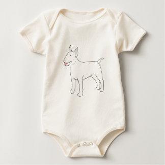 Bull Terrier BULLY GIRL complete Baby Bodysuit
