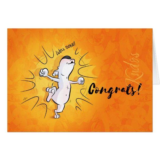 "Bull Terrier Cartoon Card ""Congratulations"""