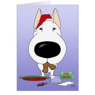 Bull Terrier Christmas Cards