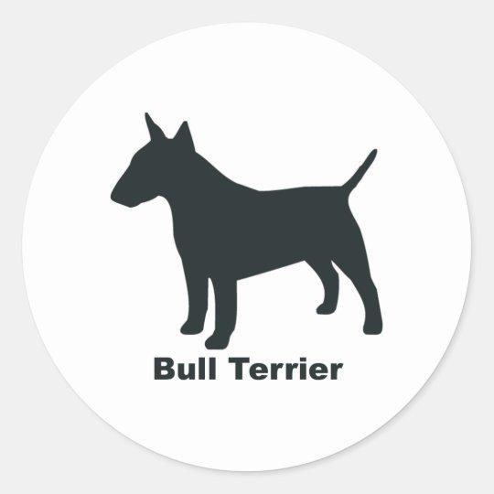 Bull Terrier Classic Round Sticker