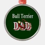 Bull Terrier Dad Christmas Ornaments
